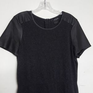 Cashmere by Bloomingdales Leather Sleeve Trim XL